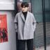 MRCYC Hàn Quốc phiên bản của raglan tay áo len áo khoác nam xu hướng rắn màu lỏng đôi ngực áo len áo khoác áo khoác thủy triều Áo len