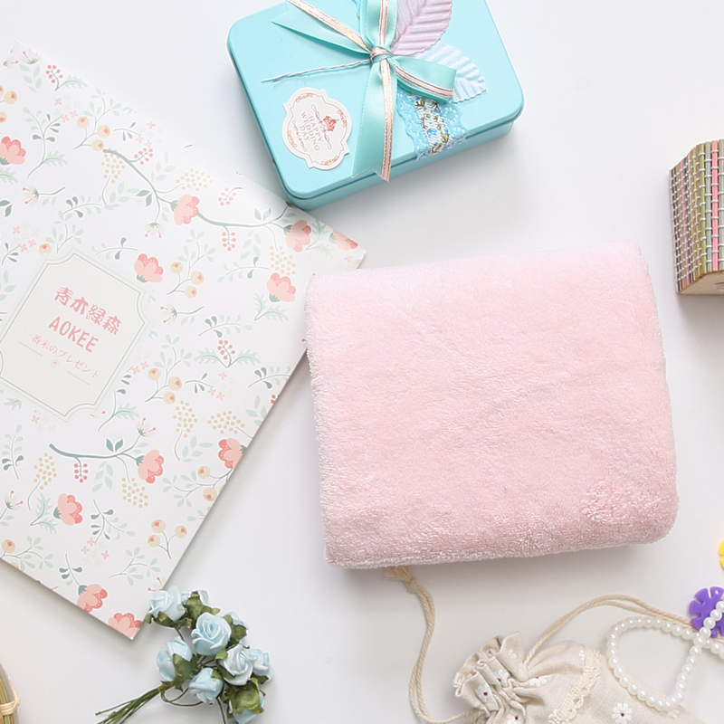 柔软吸水毛巾纯色 AOKEE日本美容毛巾成人家用大毛巾小毛巾洗脸巾
