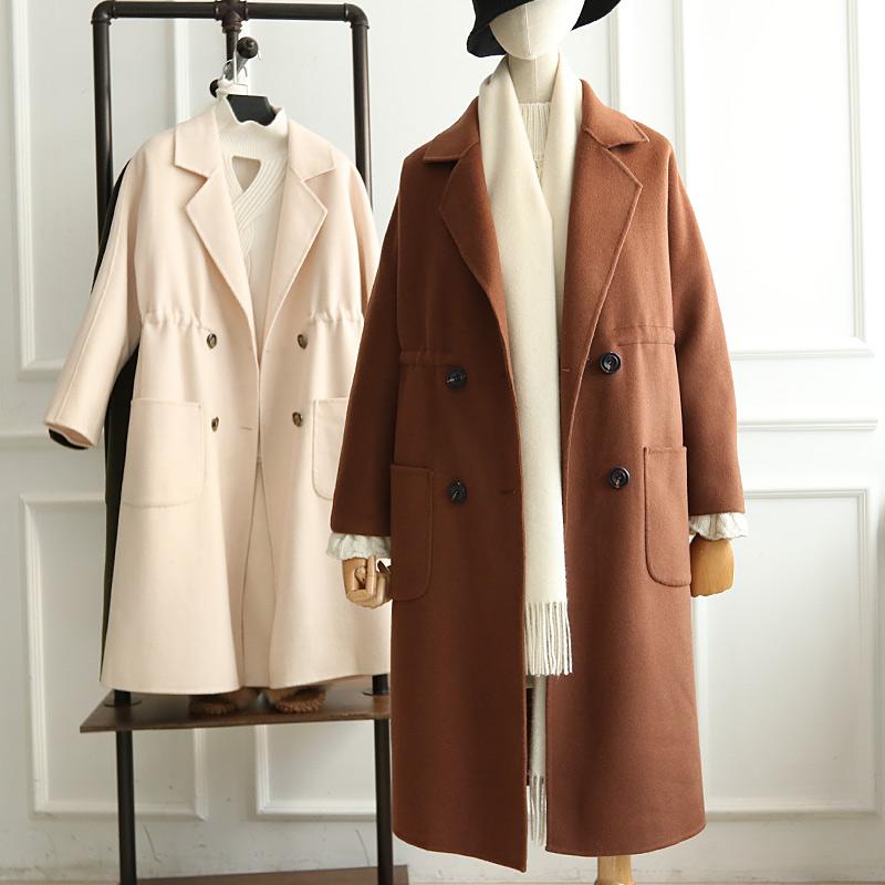 Chống mùa bán tất cả len 2018 mùa thu và mùa đông phần dài eo hai mặt áo len áo len DY76017
