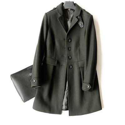 Gạch tủ trên hàng ngàn ~ đúng sự thật.杶 len phù hợp với áo len ~ 18 mới eo áo dài dày Trung bình và dài Coat