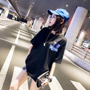 2018夏新港风chic宽松T恤