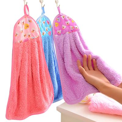 【天天特价】5条装珊瑚绒不沾油洗碗布抹布厨房不掉毛吸水擦手巾