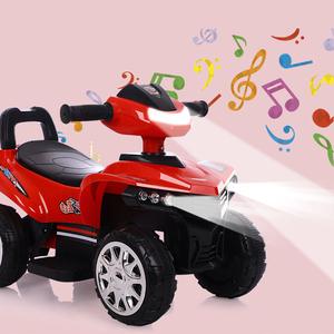 婴儿童电动车四轮摩托车滑行小车可坐1-4岁宝宝沙滩车玩具车童车