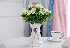 Bình hoa đứng phòng khách bình trang trí thời trang hiện đại tiết kiệm hoa đặc biệt cung cấp dệt nhựa chậu hoa
