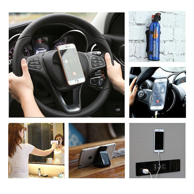美国FIXATE随手贴万能贴纳米黑科技车载手机贴无痕贴硅胶挂钩粘钩
