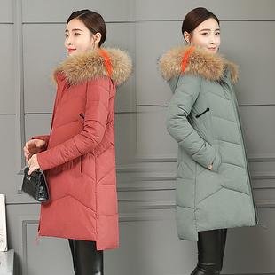 冬季棉袄女2018新款大毛领韩版