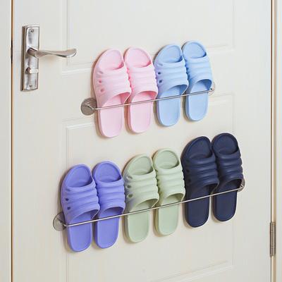 浴室拖鞋架卫生间免打孔宿舍神器厕所置物架不锈钢壁挂鞋子收纳架