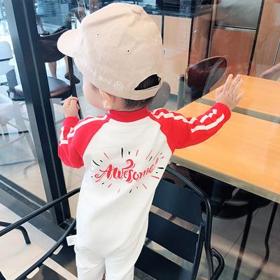 女婴儿连体衣服8男宝宝0网红春秋秋装6个月1岁套装婴幼儿可爱秋装