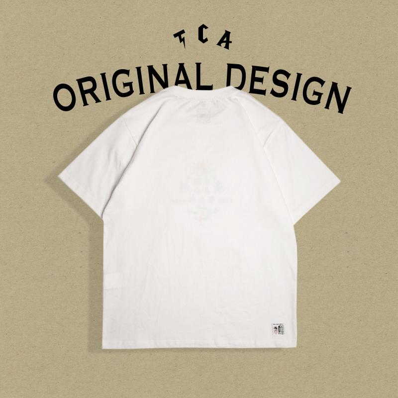 纯棉短袖t恤男 情侣潮流夏天欧美风潮牌白色半袖上衣