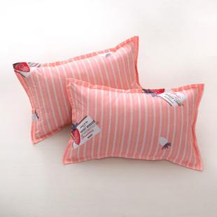 水洗棉枕套一对装拉链款枕套
