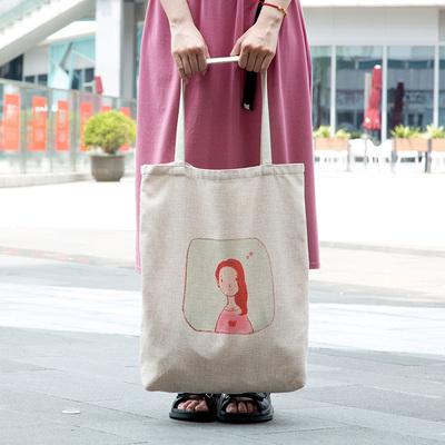 居家家棉麻手提袋大号超市购物袋大容量布袋子买菜包环保袋收纳袋