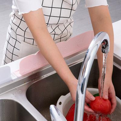 居家家硅胶水池挡水板创意厨房小用品家用水槽台面防溅水隔水挡板