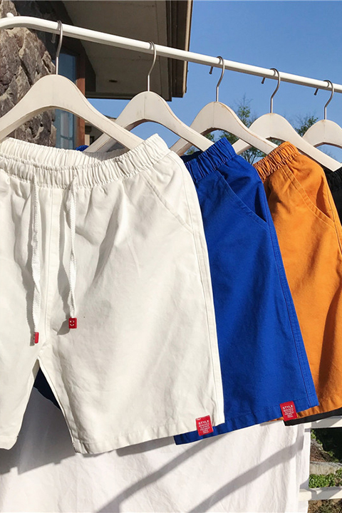 2018 thanh niên nam mới ghi nhãn quần short mùa hè triều nam ins với cùng một đoạn năm quần những người yêu thích quần short giản dị Áo khoác đôi