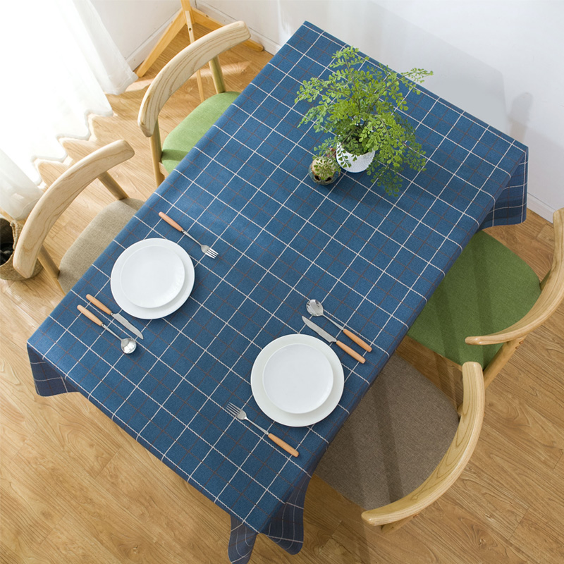 仿棉麻布艺pvc格子桌布防水防油防烫免洗餐桌布茶几台布网红ins风-给呗网