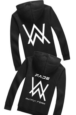 Alan Walker áo len Zip Hoodie Alan Walker với áo khoác DJ Áo len