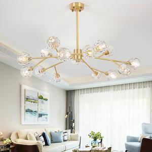 北欧后现代轻奢水晶吊灯创意个性大气客厅餐厅卧室灯高档简欧灯具