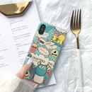 迪斯尼卡通怪兽大学苹果X手机壳 iPhone7plus/8/6s情侣磨砂软壳女