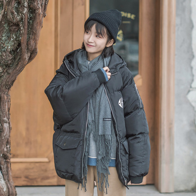 Loose hooded bread service ifashion cotton clothing female new oversize thick coat female autumn and winter