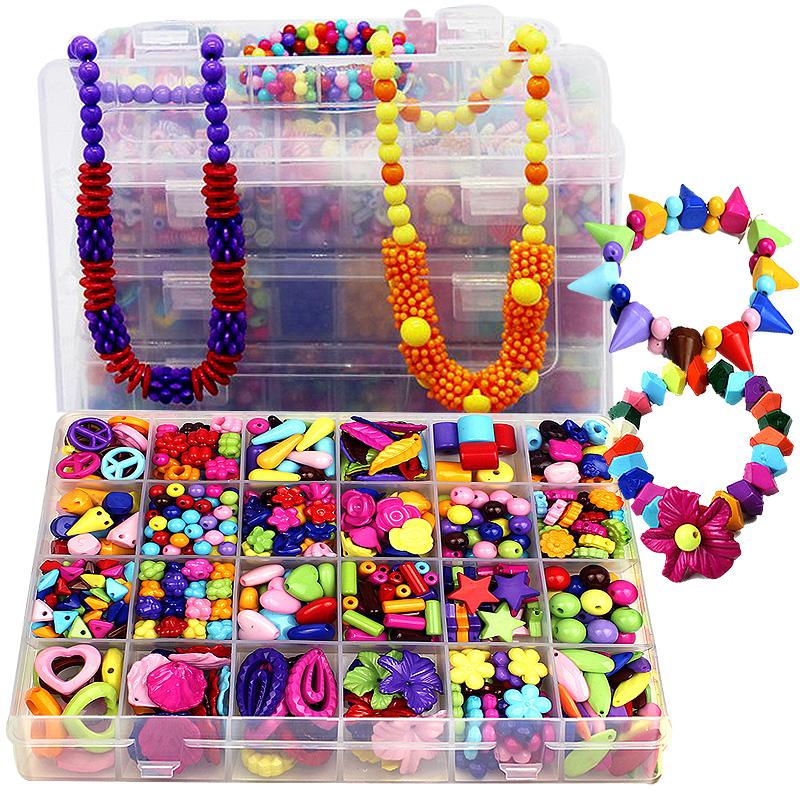 女孩礼物diy儿童手工串珠宝宝益智玩具