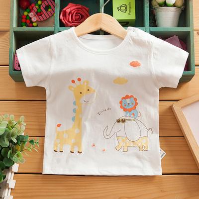 无骨宝宝半袖t恤男童夏季装纯棉打底衫小孩童装婴儿女宝宝短袖薄