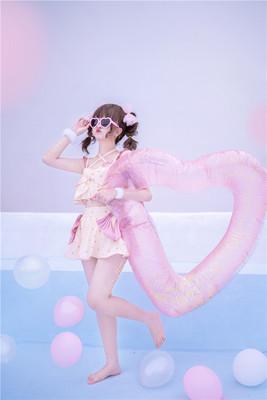 taobao agent 【To Alice】C5612 Original Summer Sweetheart Big Bow Polka Dot Split Swimsuit Set