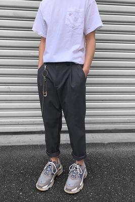 ITSCLIMAX màu xám xếp li phù hợp với quần người đàn ông lỏng lẻo của mùa hè phần mỏng quần tây giản dị xu hướng hoang dã Suit phù hợp