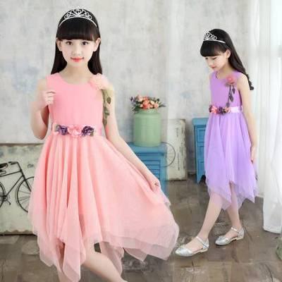 女童夏装连衣裙8小女孩子9夏季公主裙子6雪纺11儿童装7夏天12岁15