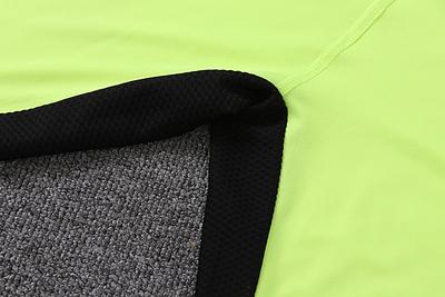 Thẻ cắt nhãn 18 mùa xuân và mùa hè mới thời trang thể thao t-shirt khâu lưới thoáng khí thoải mái dài tay áo nam 0938 áo phông rộng nam Áo phông dài