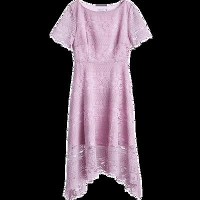 [Giá mới 149 nhân dân tệ] 2018 mùa hè xương đòn cổ áo ngắn tay không thường xuyên ren váy cô gái tim cổ tích váy đầm jean Sản phẩm HOT