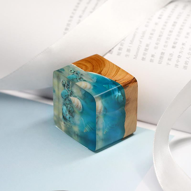几立手作静谧之海摆件印章,送定制刻字同学礼物
