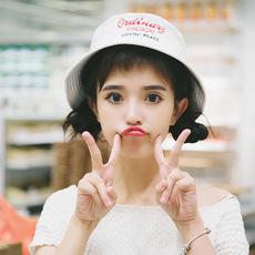 夏天遮阳软妹帽子可爱日系渔夫帽文艺小清新韩版百搭学生简约盆帽