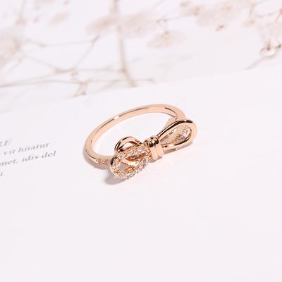 冷淡风网红食指蝴蝶结戒指女时尚个性潮流小众设计开口可调节指环