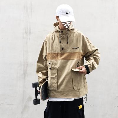 日系复古工装外套男士秋季原宿风BF口袋美式街头潮流余文乐夹克潮