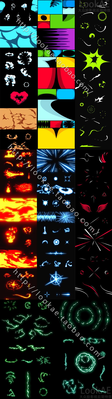 AE模板:140组豪华卡通动漫MG运动特效包工程 + 视频素材(带透明通道)