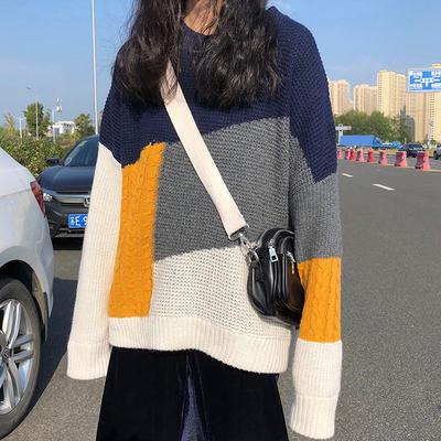 森系毛衣女宽松外穿秋季新款百搭套头长袖针织衫洋气上衣