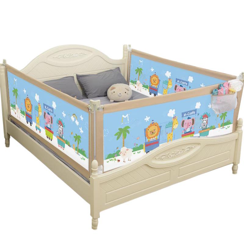 床围栏宝宝防摔防护栏 垂直升降通用儿童大床1.8-2米婴儿床杆挡板