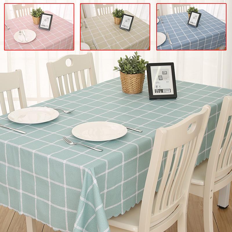 餐桌布艺棉麻小清新长方形茶几桌垫防水防油防烫免洗桌布PVC塑料