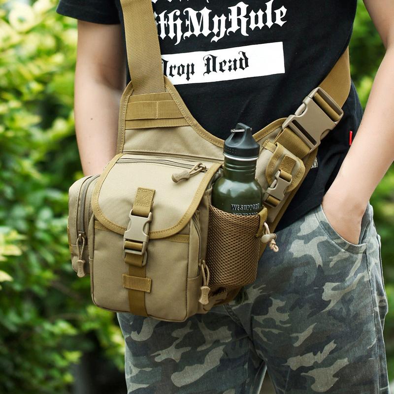 Thời trang thể thao vai túi Messenger túi yên nhỏ quân đội fan ngụy trang ba lô đường Châu Á súng cao su xu hướng túi chiến thuật ngoài trời gói