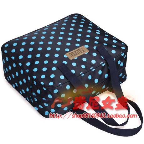 new korean wave point mummy bag large capacity canvas women's shoulder shoulder bag multi-purpose travel bag
