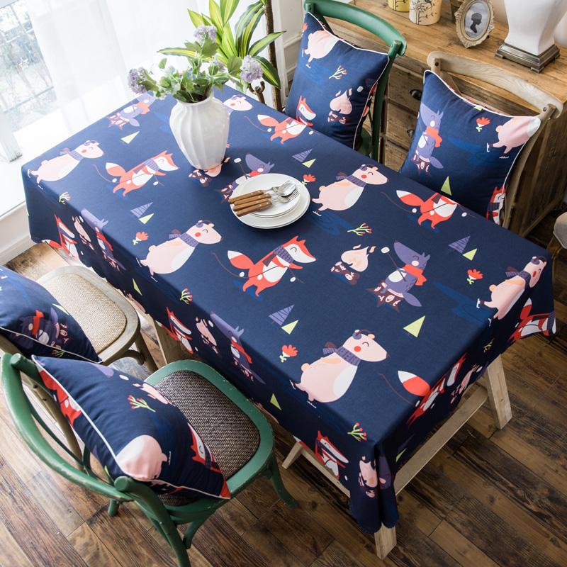 纯色双面桌布/棉麻桌布布艺防水客厅茶几布长方形酒店餐厅台布
