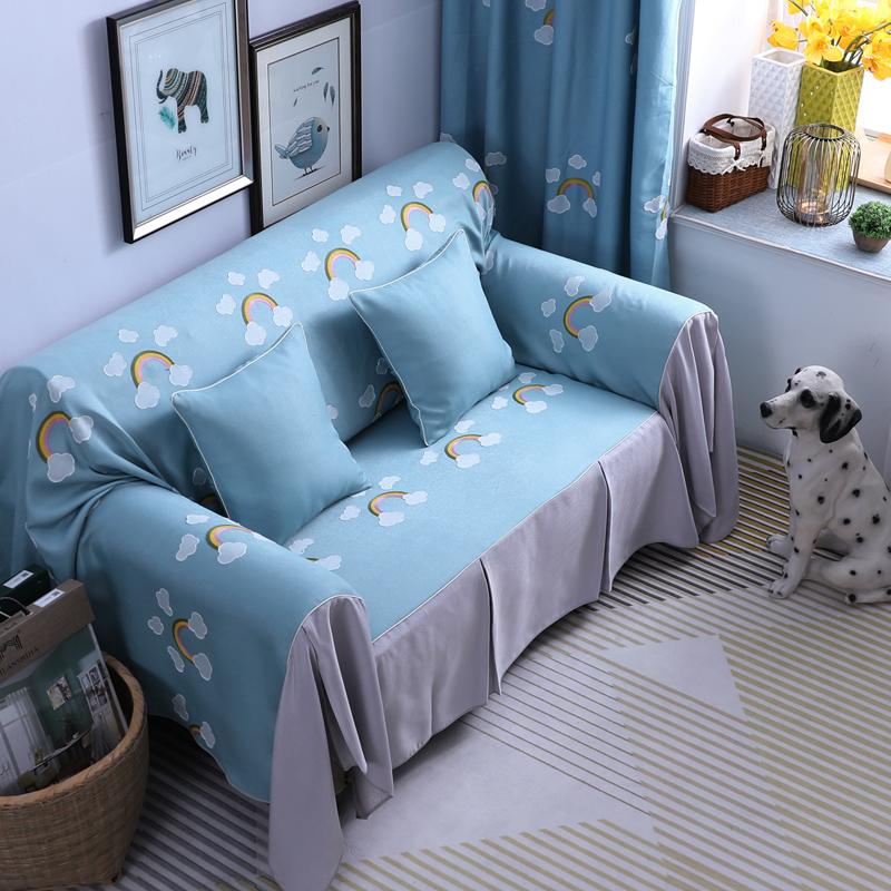 沙发罩巾全盖沙发垫四季通用布艺防滑简约现代沙发套全包非万能套