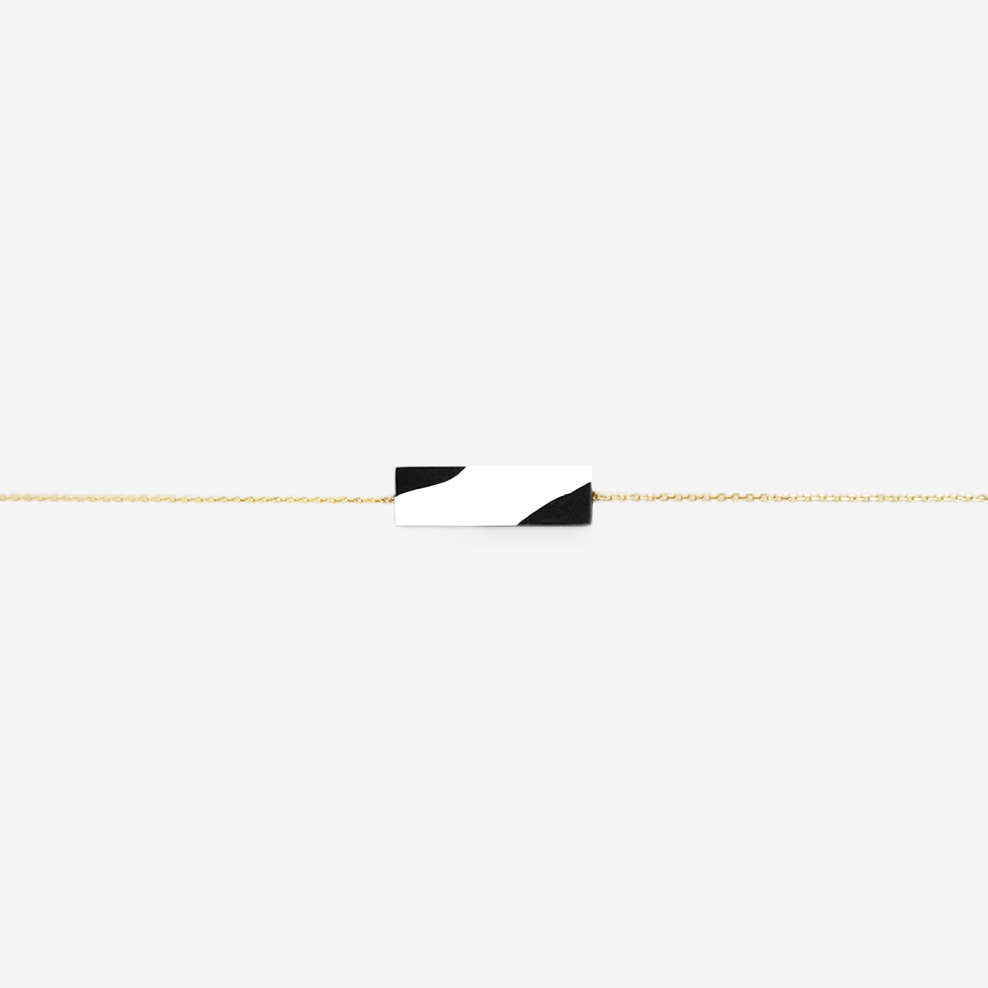 METOOWORKSHOP 芝麻弧系列黑白极简项链气质简约锁骨链