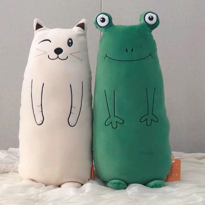 毛绒玩具青蛙可爱布娃娃抱着陪你睡觉长条抱枕公仔女七夕生日礼C