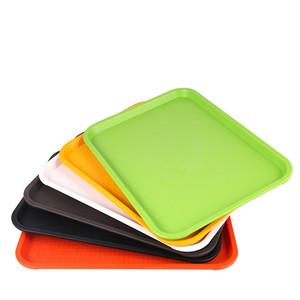 中式快餐托盘长方形汉堡塑料托盘防滑快餐盘食堂餐具酒店托盘商用