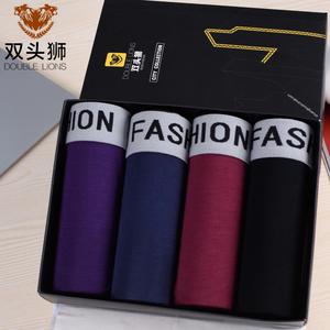 4条韩版装平角裤头纯色男土内裤