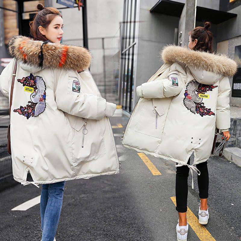 冬季气质加厚棉衣棉服女宽松面包服