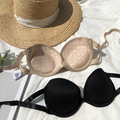 夏季新款无肩带文胸女潮时尚百搭聚拢防走光隐形内衣胸罩