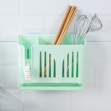 免打孔筷子筒壁挂式沥水筷子笼吸盘式筷子置物架创意筷筒防霉筷筒