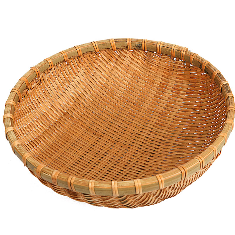 handmade bamboo basket bamboo woven products bamboo dustpan fruit dish washing laundry list to receive a bamboo basket sieve drop steamed bread, steamed bread
