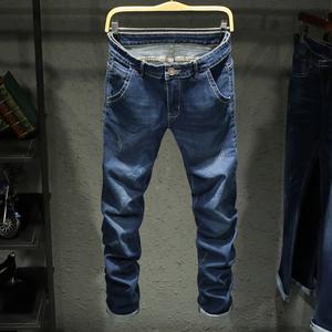2018春夏新款修身韩版青少年学生弹力男士牛仔裤长裤男装潮179C